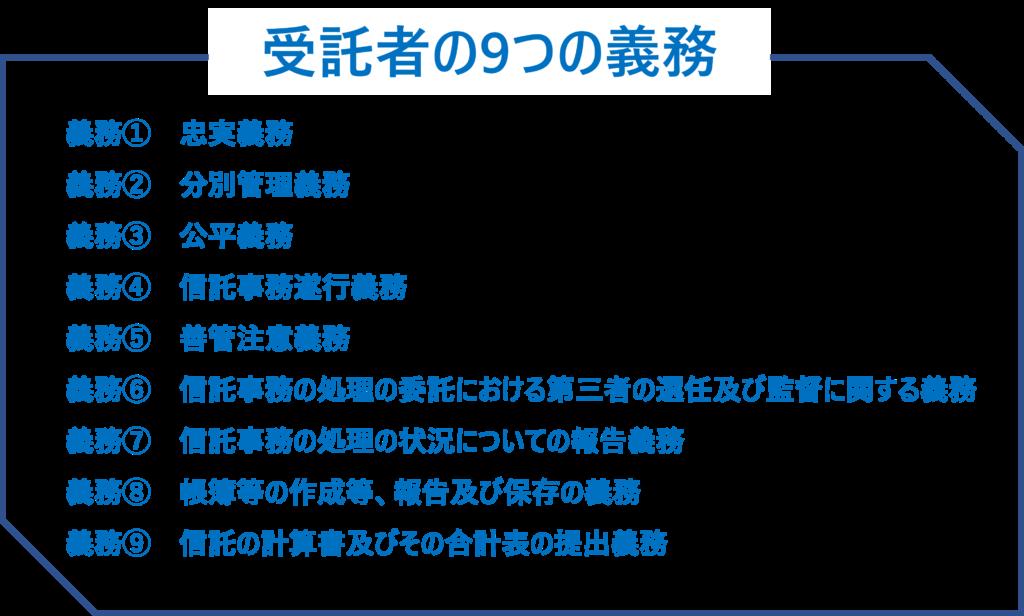 受託者の9つの義務